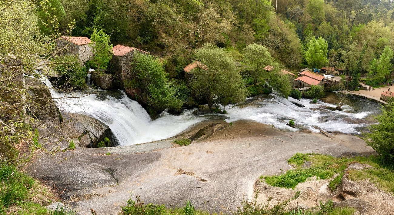 Old watermills near Cambados waterfall fervenza cascadas galicia spain art travel