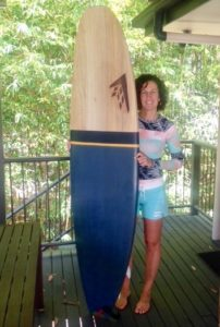 Artist: Leonie Walton, My other passion: surfing