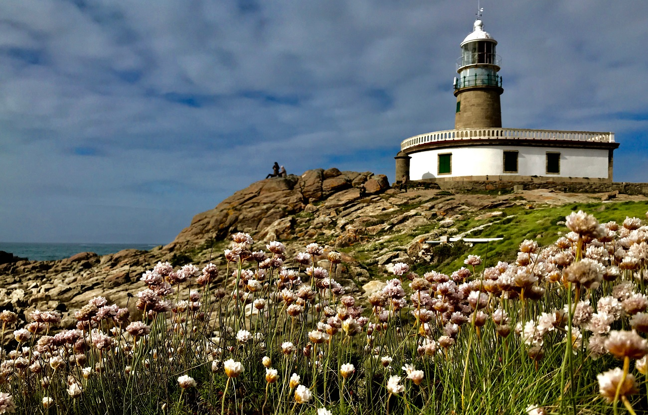 Lighthouse faro Corrubedo, Costa da Morte Porto do Son wildflowers atlantic shipwrecks photo seascape art travel
