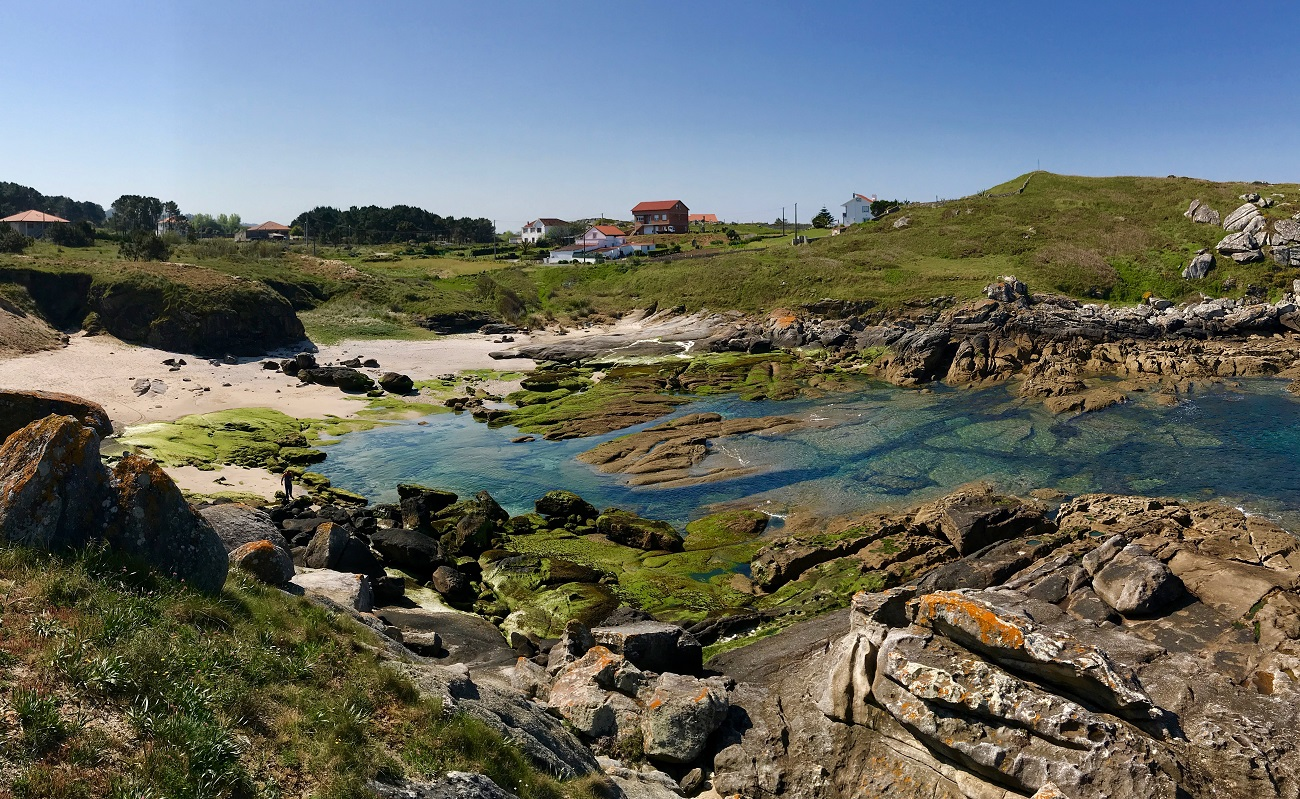 swimming lagoon fishing Muros ria Porto do Son Galicia photo landscape art travel