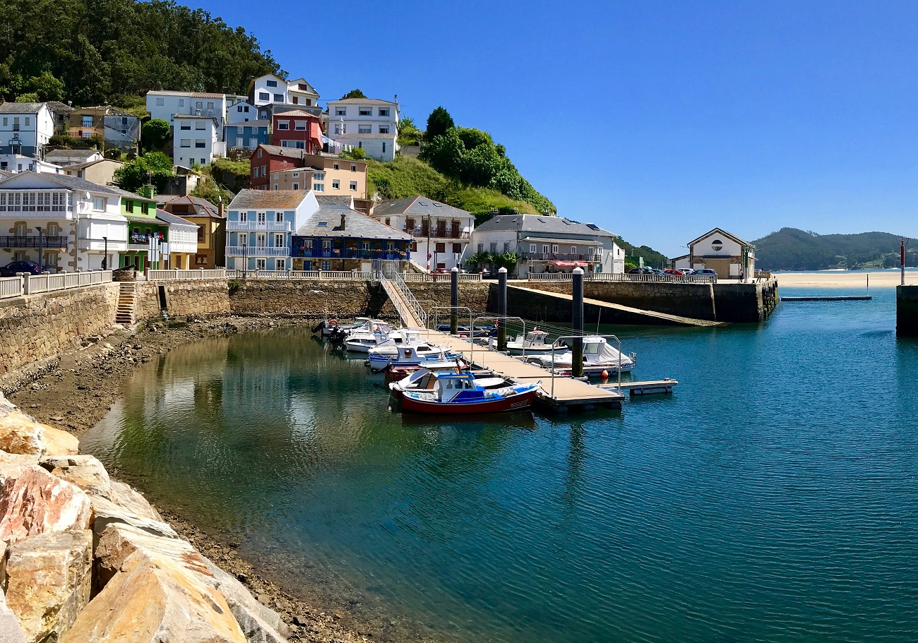 Porto do Barqueiro Galicia Spain cute fishing village