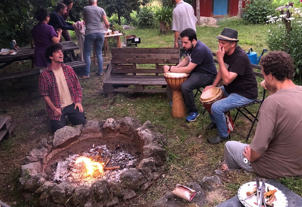 Galician Feast BBQ tanquian organic farm panton ribeira sacra galicia party photo art travel