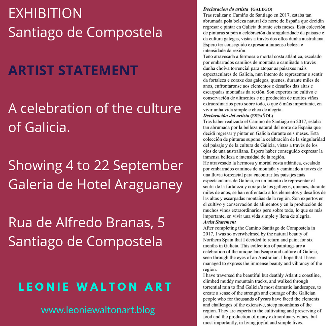 Galician exhibition culture, artist statement, fundacion araguaney