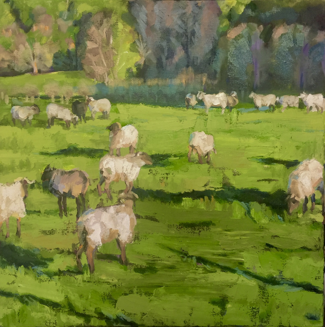 art exhibition, sheep painting