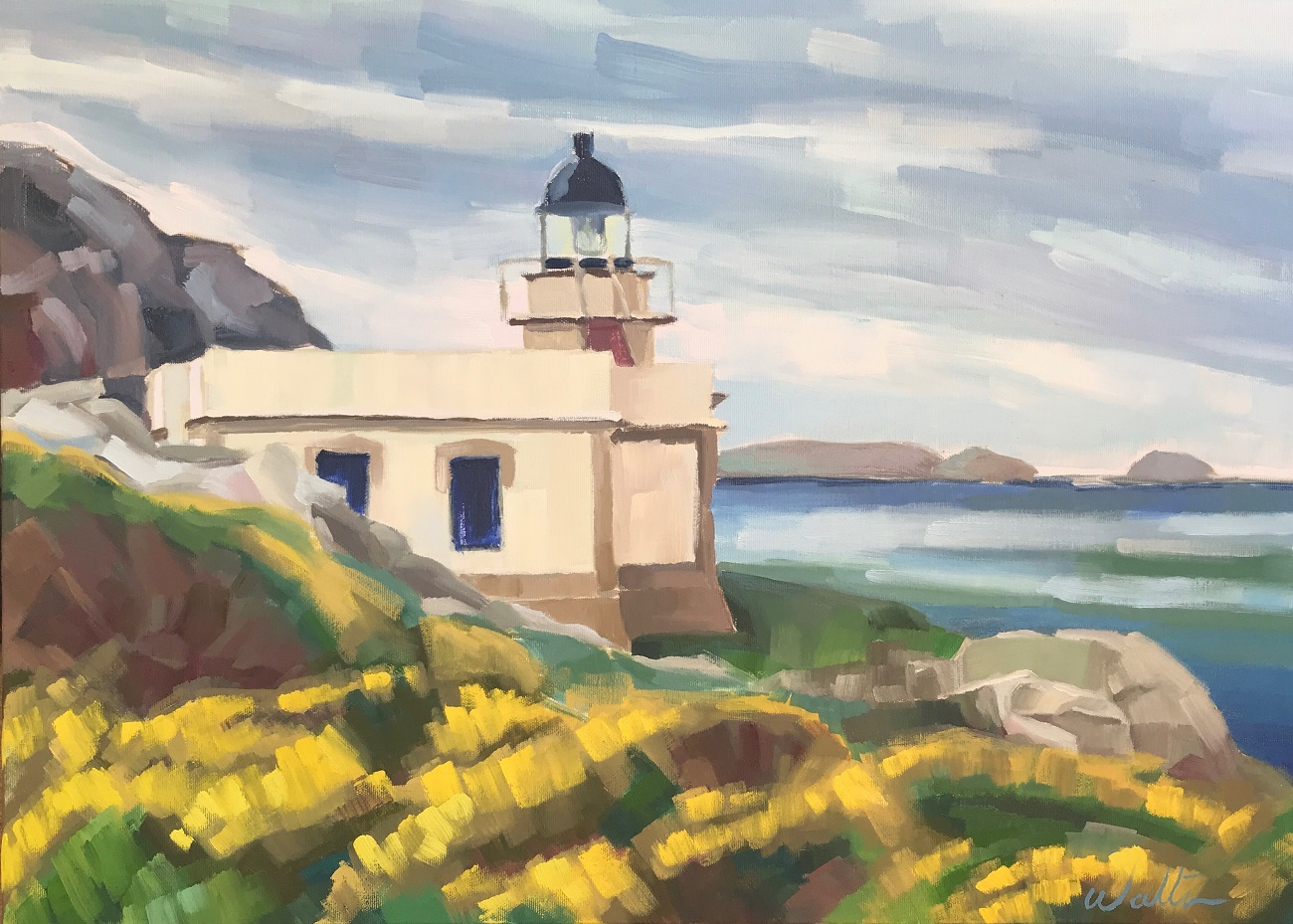 art exhibition, painting lighthouse, faro de cabo prior, Galicia