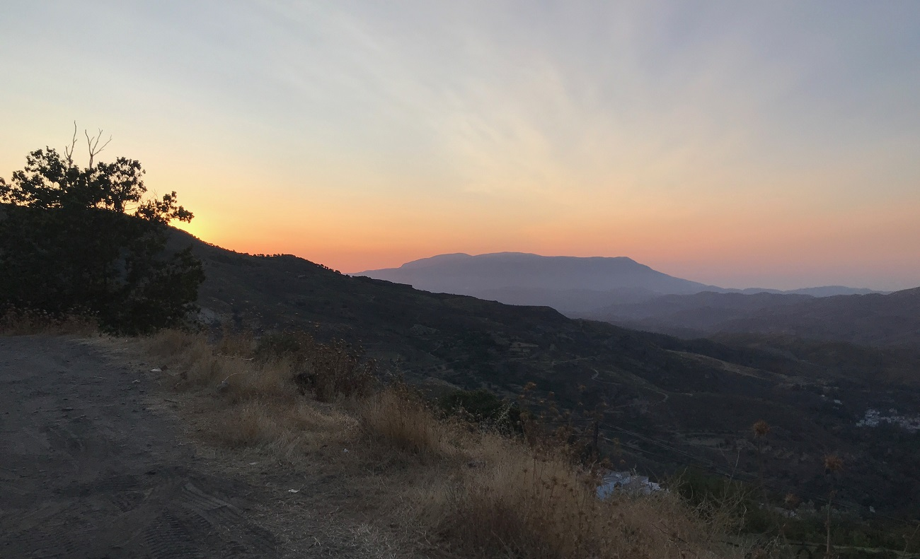 sunrise over alpujarras sierra nevada berchules spain landscape photo art travel