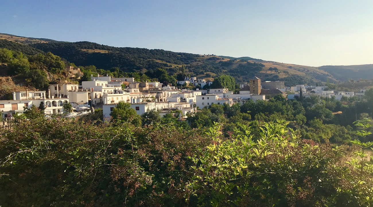 alpujarras sierra nevada gr7 walking hiking juviles white moorish village spain photo art travel